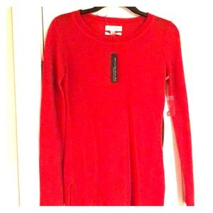 Red Lightweight red Merino Wool sweater